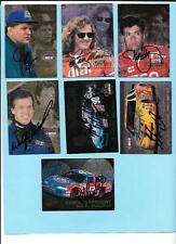 1996 Flair Autograph Nascar Lot(7)Spencer,Moise,Waltrip,Wallace,Grissom