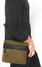 df34b3b5b32d Michael Kors MK Green Camo Crossbody TABLET Side Man Bag Travel Wallet New  SALE!