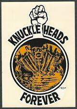 "VINTAGE ORIGINAL 1968 ED ROTH ""KNUCKLE HEADS FOREVER"" HARLEY WATER DECAL ART"