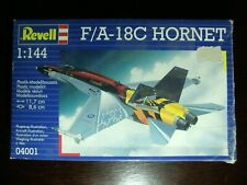 Revell F A-18C Hornet scale 1:144 box opened model plane