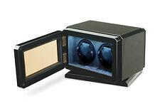 High Quality VOLTA *Carbon Fiber w/LED Lights* Automatic 2 Watch Dual Winder Box