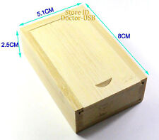 25PCS 8GB Wooden Memory Flash USB Drive Bamboo Wood Pendrives Sticks 2.0 + Case