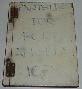 FORD ANGLIA 105E 1965 - 1967 ORIGINAL PARTS CATALOGUE LIST