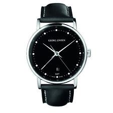 Georg Jensen Men's Dual Time Watch # 519 - Black Dial - KOPPEL