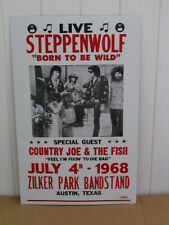 Vintage Steppenwolf Concert Tour Poster 1968, Born to be Wild