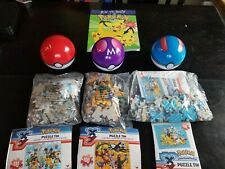 3 Different 'Pokemon' 100 Piece Jigsaw Puzzles NEW, ages 6+ how to draw book.