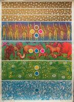 Paola Pasotto serigrafia  '98  70x50 firmata numerata edizioni Bora 52/95