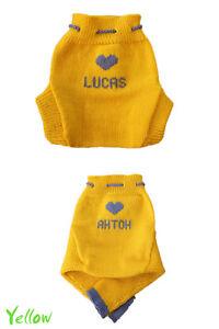 Personalized Diaper Cover MERINO WOOL baby name soaker longies leggings knitted