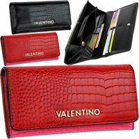 Valentino Women's Wallet Croco Nero Rosso Wallet Purse Purse