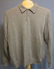 BLACK BROWN 1826 LIGHT GRAY 100% CASHMERE POLO SWEATER SIZE 2XLT