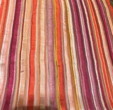 Shower Curtain Saturday Knight LTD 70 x 70 striped polyester pink & orange