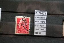 FRANCOBOLLI ITALIA REGNO N°478 GNR USATI STAMPS ITALY USED (F109623)