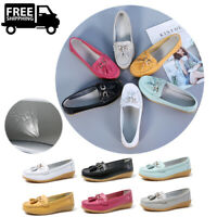 US 9.5 Women's Loafers Flats Moccasins Shoes Leather Ladies Work Casual Walking