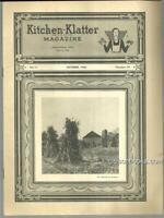 Kitchen Klatter Magazine October 1946 Halloween Hilarity Party/October Garden