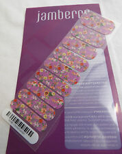 Jamberry Orchid Garden A446 Nail Wrap ( Half Sheet ) Retired Design