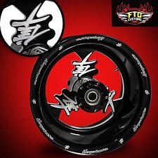 "Hayabusa Custom 240mm Wheels 2008-2013 ""Hayabusa Logo"" by FTD Customs"