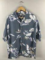 Tommy Bahama Men's Vintage Short Sleeve Hawaiian Shirt - Size Large - Grey