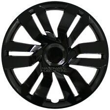 "17"" Black Set of 4 Wheel Covers Full Rim Hub Caps fit R17 Tire & Steel Wheels"