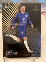 2020-21 Topps UEFA UCL MASON MOUNT CHELSEA KNOCKOUT SP CARD 25 PR: 9072