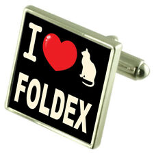 I Love My Cat Cufflinks Foldex