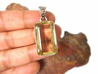Lemon  QUARTZ    Sterling  Silver  925  Gemstone  PENDANT  -  Gift  Boxed!