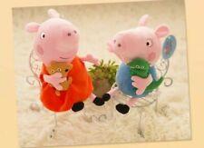 "10"" SET OF 2 pcs of Peppa Pig and George Soft Stuffed Plush Cute toy kids gift"