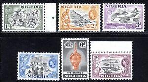 1953 Nigeria SC# 81-87 - Logging-Mining - 6 Different Stamps - M-NH