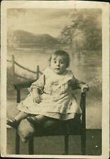 Baby Girl Sitting On Chair  Backdrop   Ri.527
