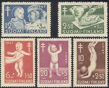 Finlandia 1947 TUBERCOLOSI fondo/Salute/TB/Bambini/benessere/Medical 5 V Set n24818