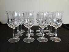 12 verres a vin en cristal d'ARQUES modele LONGCHAMP