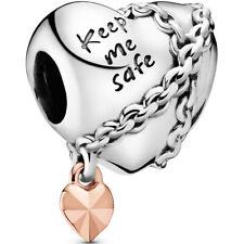 "PANDORA ROSE Charm Element 788344 ""Chained Heart"" Herz Silber Bead"