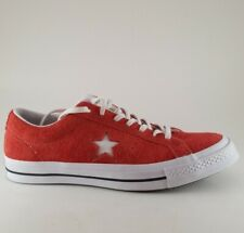 Converse One Star Ox Men's Shoes Red Suede Size 11.5 Low Top 158434C NEW
