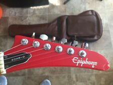 Epiphone by Gibson Red S310R Guitar Strat Style Hockey Stick Headstock