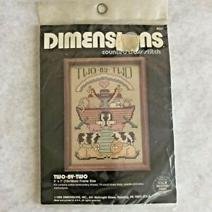 Dimensions Counted Cross Stitch Kit 6551 Two By Two Noahs Ark 5 x 7