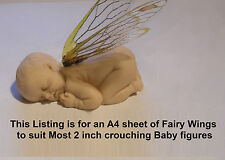 Elf fairy baby wings transparency sheet 14 pairs suit first impressions mold