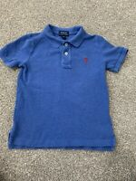 Polo Ralph Lauren Boys 4/4T Blue Heather Button Down Polo Shirt