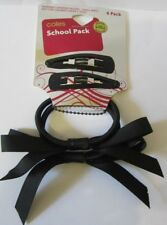 Coles School Pack of 4 Pins / Pony Hair Accessories Black