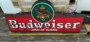Vintage Neon Budweiser Sign, For Parts Or Repair, Large 5 Foot, Estate Find