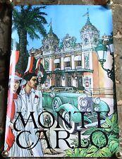 Vintage Monte Carlo Travel Poster - Keith Ingermann Original Tourism Advertising