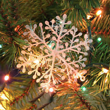 9x White Snowflakes Decorations Supplies Hanging Ornaments Gift ChristmasH&T