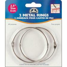 "2 Dmc Metal Rings 2.5"" Round for Cross Stitch Floss Thread Bobbins or Bags"