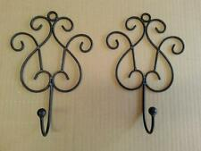 2 x Handmade Iron French Vintage Swirl Scroll Hook Hanger