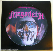 """Megadeth """"killing is my business"""" Picture LP 1985 pactadas 46p ultra Rare"""