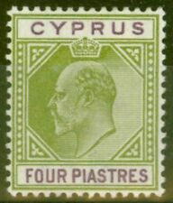 Lightly Hinged Edward VII (1902-1910) Cypriot Stamps