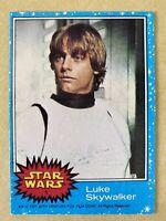1977 Topps Star Wars #1 Luke Skywalker Card First in Blue Series