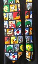Warner Bros Looney Tunes Stamps Tie Taz Bugs Sylvester Tweetie Coyote Necktie