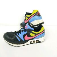Nike Air Stab Mens Size 9.5 Running Shoes 2007 Colorway Black Pink Bkue Neon