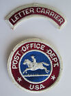 Post Office Department and Letter Carrier Old Style vtg Patch Set USPS USA Dept.
