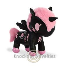 "7.5"" Tokidoki Unicorn - Dj Sparkle - Black Toy Cuddle Stuffed Animal Play"