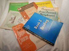 2 Organ Books & 5 Piano Combination Instruction and Song Books